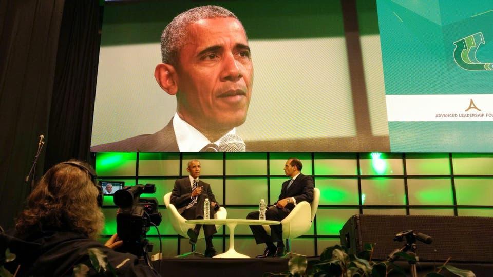 Barack Obama en la Cumbre de Economía Verde en Córdoba. Foto: DyN / Twitter
