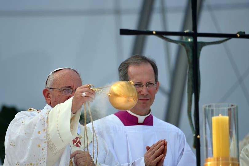 El Papa Francisco durante la misa en Copacabana. Foto: AFP
