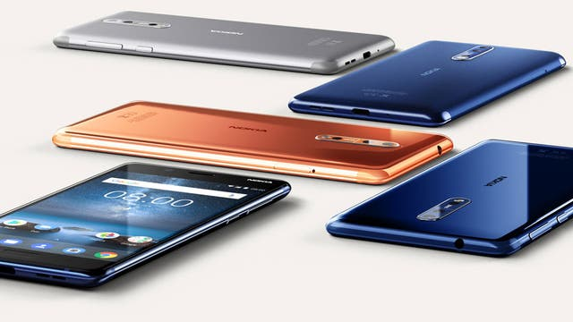 Estos son los colores que tendrá el Nokia 8