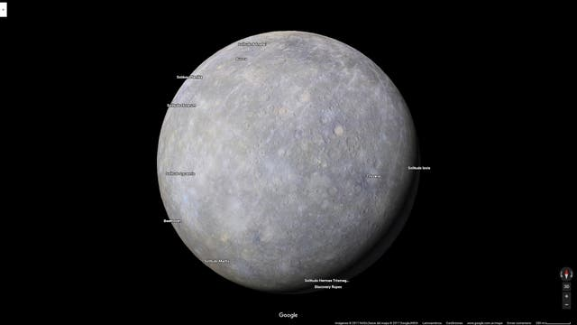 La superficie de Mercurio ahora se puede visitar desde cualquier pantalla