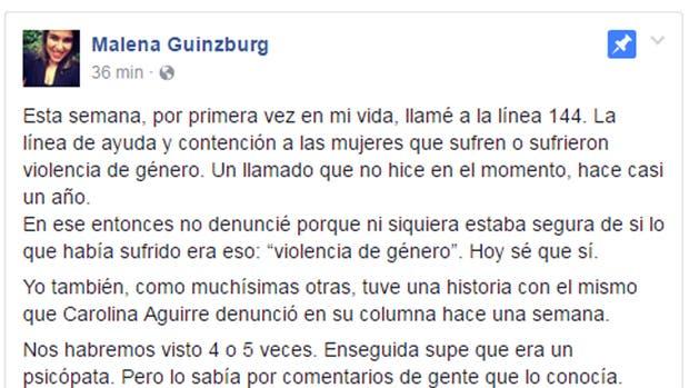 Una humorista también denunció por violento al ex de Carolina Aguirre