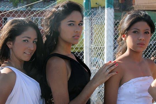 Un primer plano de Liz, Delia y Sabrina. Foto: LA NACION / Matías Aimar