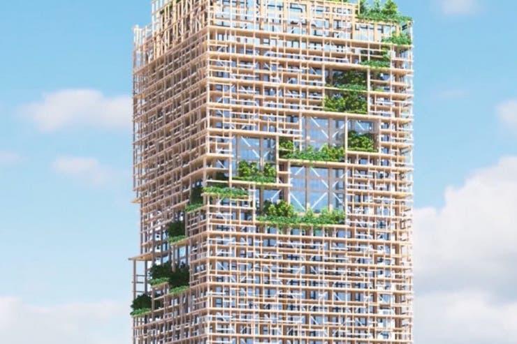El objetivo de Sumitomo Forest es celebrar su 350 aniversario con una torre que inspire la presencia de un bosque en una ciudad como Tokio