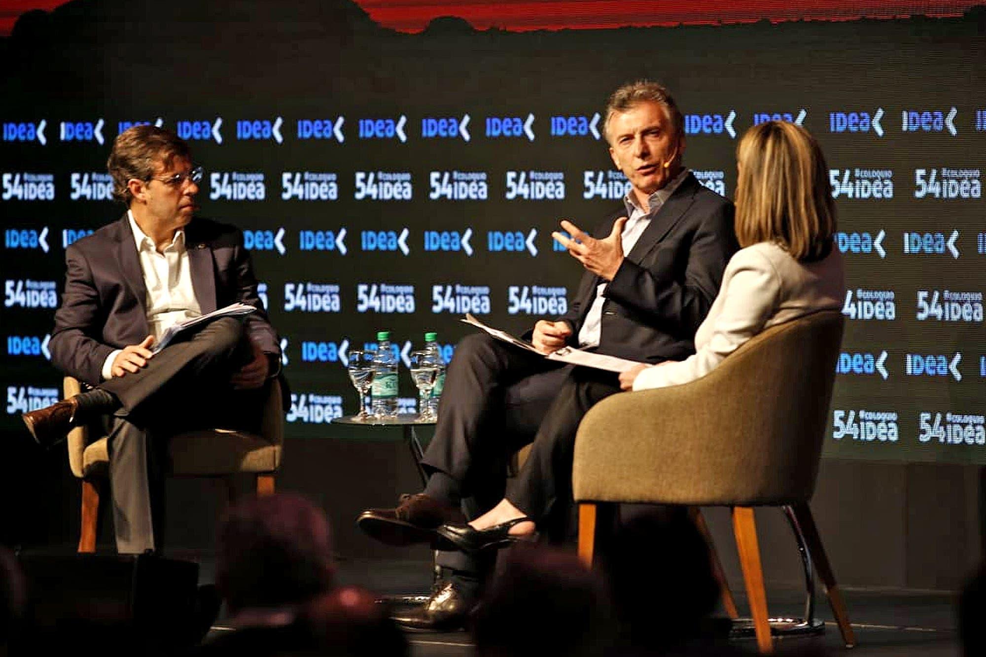 """""""No podemos tener un sistema mafioso en el transporte de carga"""", aseguró Mauricio Macri en el cierre de IDEA"""