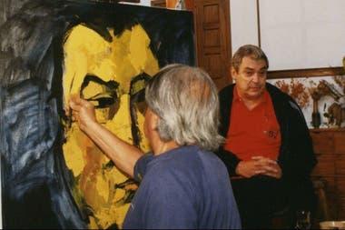 Oswaldo Guayasamín trabajó en el retrato de Alberto Cortez, cuando el músico volvió a los escenarios, luego de un accidente cerebral