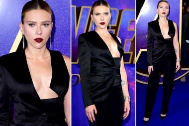 Scarlet Johansson, en el estreno de Avengers: Endgame, en Londres