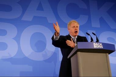 Boris Johnson, hoy, durante el lanzamiento de su campaña para suceder a Theresa May como primer ministro de Gran Bretaña