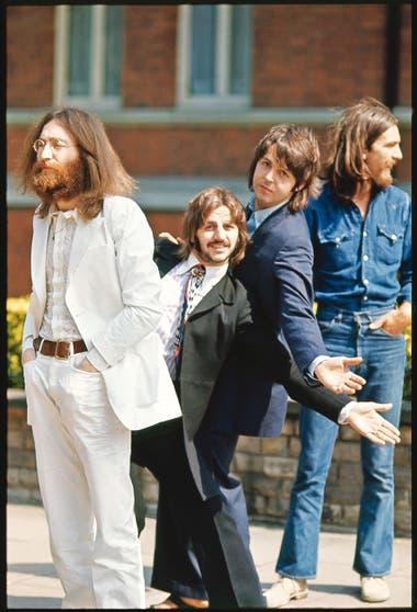 John, Ringo, Paul y George, captados en Abbey Road, en 1969
