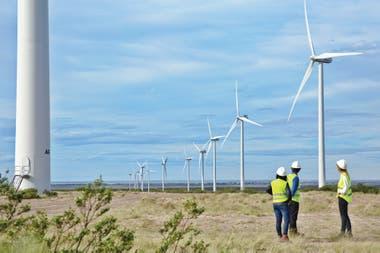 Campos de energía eólica en Trelew