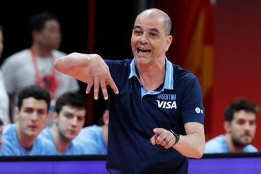 Sergio Hernández, entrenador del seleccionado argentino que busca el oro en el Mundial