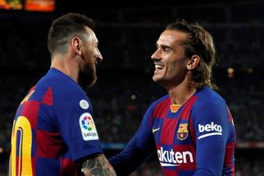 Lionel Messi y Antoine Griezmann no lograron todavía armar una buna sociedad ofensiva en Barcelona