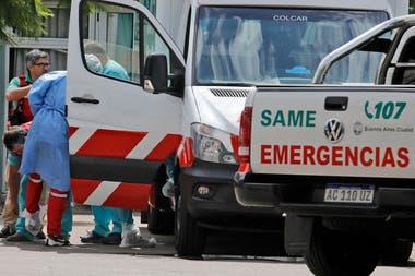 El personal del SAME participa de la aplicación del protocolo sanitario por el brote de coronavirus