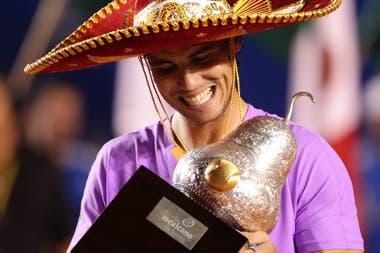 Rafael Nadal se coronó tricampeón de Acapulco poco antes de que el tenis quedara congelado.