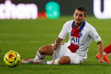 Marco Verratti, uno de los habituales titulares de PSG que estuvo presente en el debut en la liga francesa