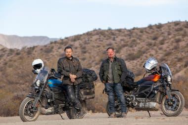 McGregor y Charley Boorman en medio de su trayecto por los caminos de sudamérica