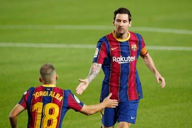 Lionel Messi y Jordi Alba, una sociedad clave en Barcelona
