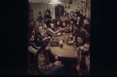Los músicos de MIA, durante un ensayo en la casa-estudio de Villa Adelina
