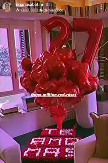 La romántica sorpresa de Oriana a su novio