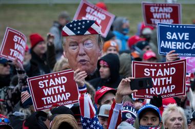 Partidarios de Trump frente al Congreso