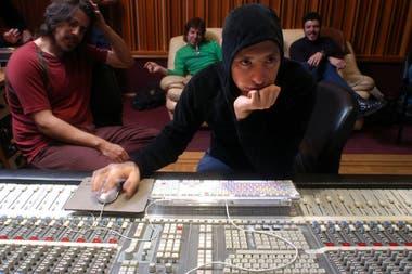 Gabriel Ruiz Díaz en el estudio