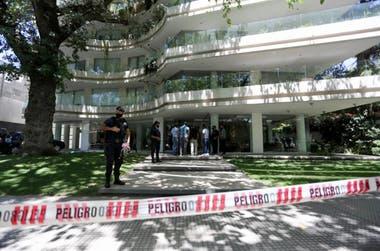 El edificio donde encontraron muerto al Morro Garcia.