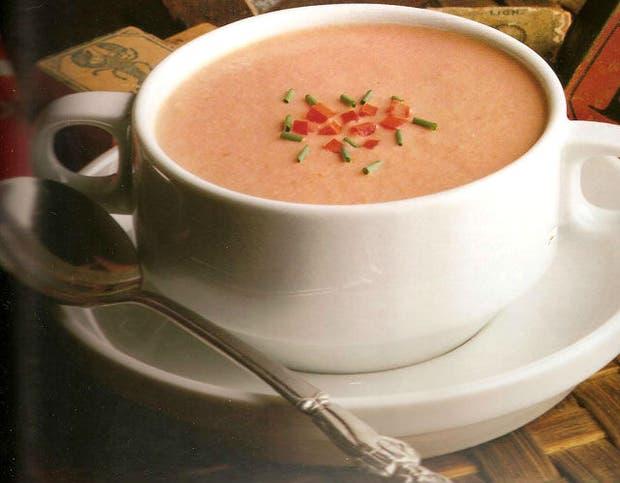 Receta de Sopa fría de tomates