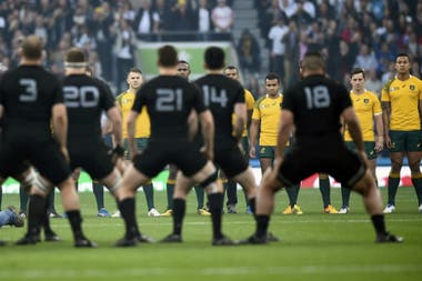 El haka de los All Blacks en Twickenham