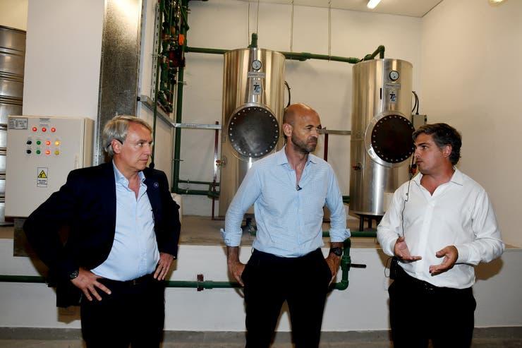 El ministro de Transporte de La Nación, Guillermo Dietrich, recorrió el subsuelo de la estación de Retiro del ramal Mitre, junto a Marcelo Orfila, presidente de Trenes Argentinos