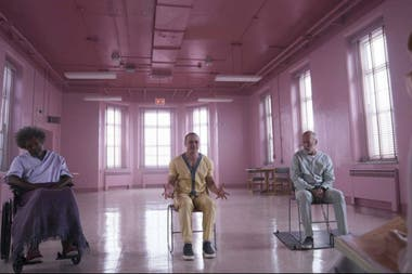 La trifecta reunida: Samuel L. Jackon, James McAvoy y Bruce Willis en Glass