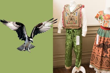 La kullawada (danza boliviana) bordada, tiene el sobrevuelo del águila
