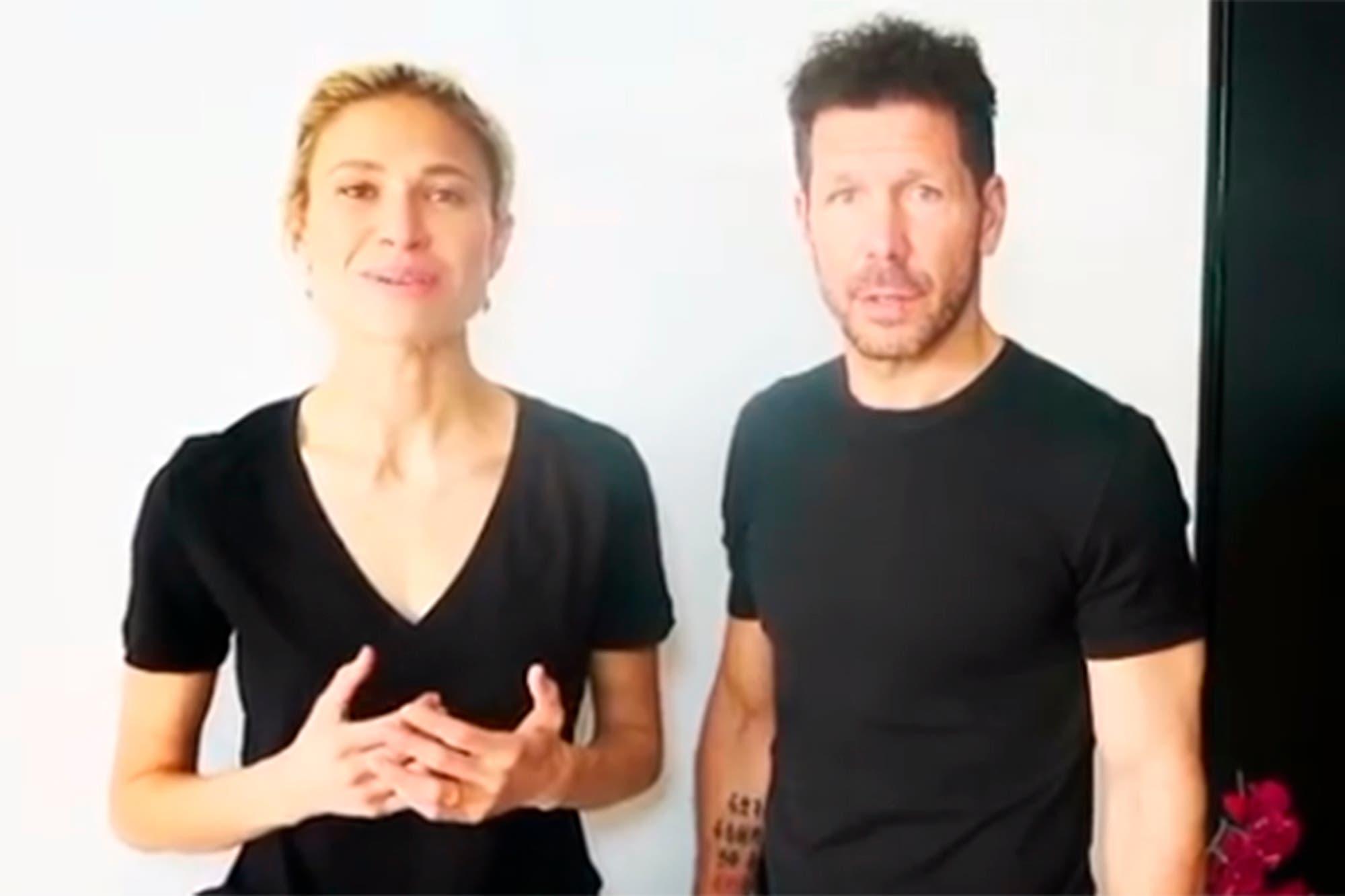 Coronavirus: la campaña solidaria de Diego Simeone y Carla Pereyra para mitigar las consecuencias de la pandemia