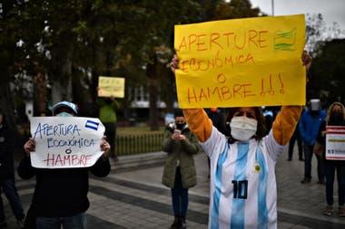 Protesta de comerciantes en la ciudad de Córdoba