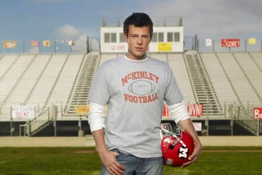 Monteith como Finn Hudson, su personaje en Glee