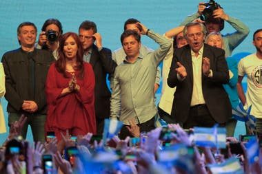 Cristina Kirchner, Kicillof y Fernández