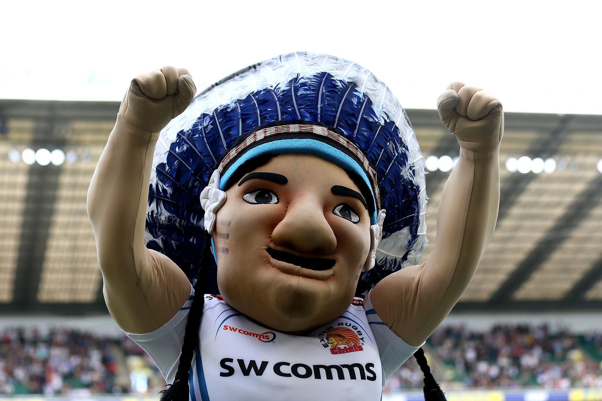 """El club de rugby inglés Exeter Chiefs no cambia su nombre pero retira su mascota porque era """"dañina"""": afectaba la imagen de las tribus indígenas"""