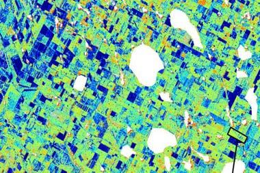Mapa satelital del Saocom