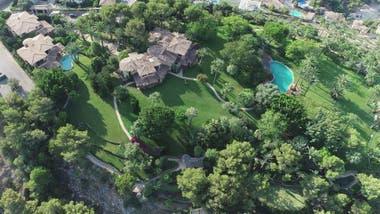 Vista aérea de la casa en la que estaría residiendo Michael Schumacher en Mallorca