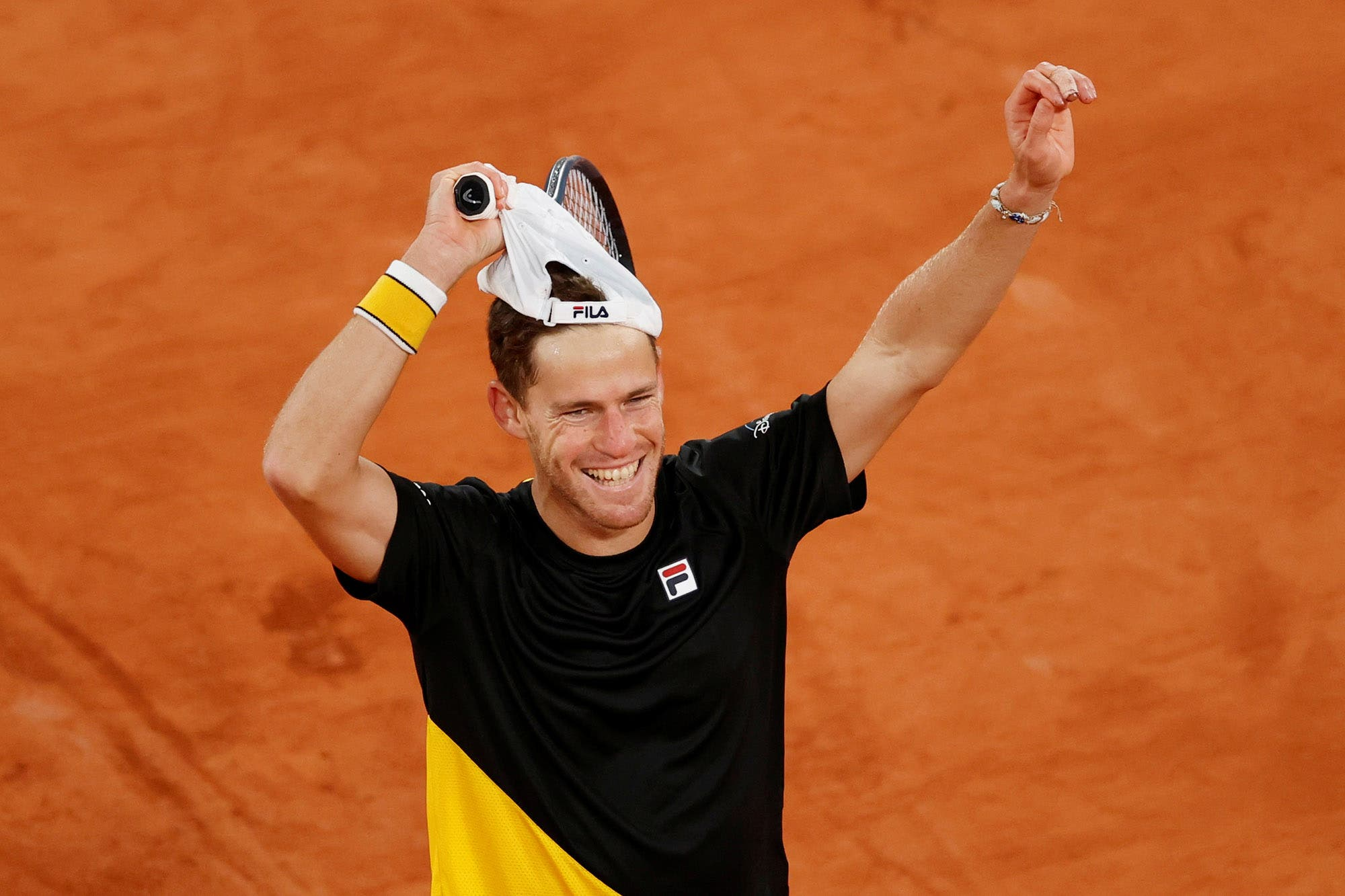 Diego Schwartzman-Dominic Thiem: el argentino ganó en cinco sets y se clasificó para la semifinales de Roland Garros