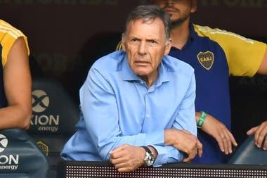 Miguel Angel Russo, entrenador de Boca, durante el encuentro que su equipo empató 1-1 en la Bombonera por la Copa Diego Armando Maradona.