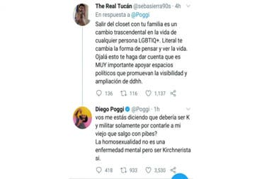 """Diego Poggi tuvo un fuerte cruce con una usuaria de Twitter y aseguró que el kirchnerismo """"es una enfermedad mental"""""""