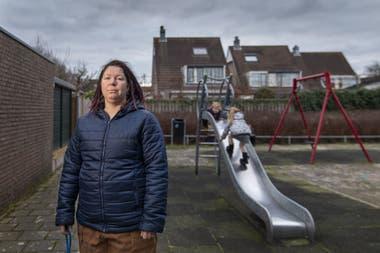 Vanessa van Ewijk recurrió a un donante de esperma para sus dos hijos, en Lisserbroek, Holanda