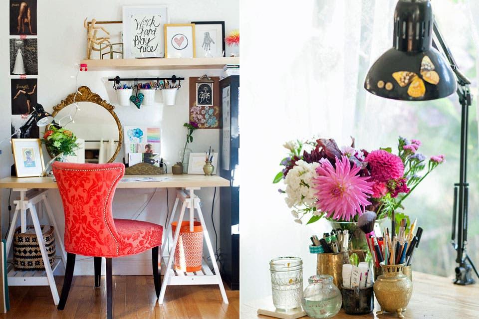 10 propuestas para decorar un escritorio femenino la nacion for Decorar un despacho femenino