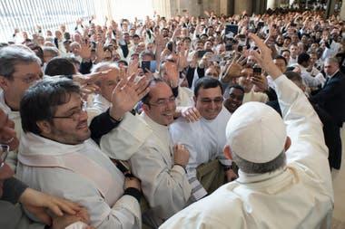 El Papa celebró el Jueves Santo en el Vaticano