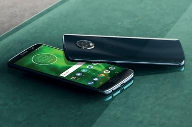 77d66aa8ed1 Una vista del Motorola Moto G6, un modelo que estará acompañado por dos  versiones adicionales