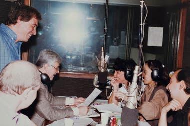 En el programa de Héctor Larrea, con el equipo de trabajo
