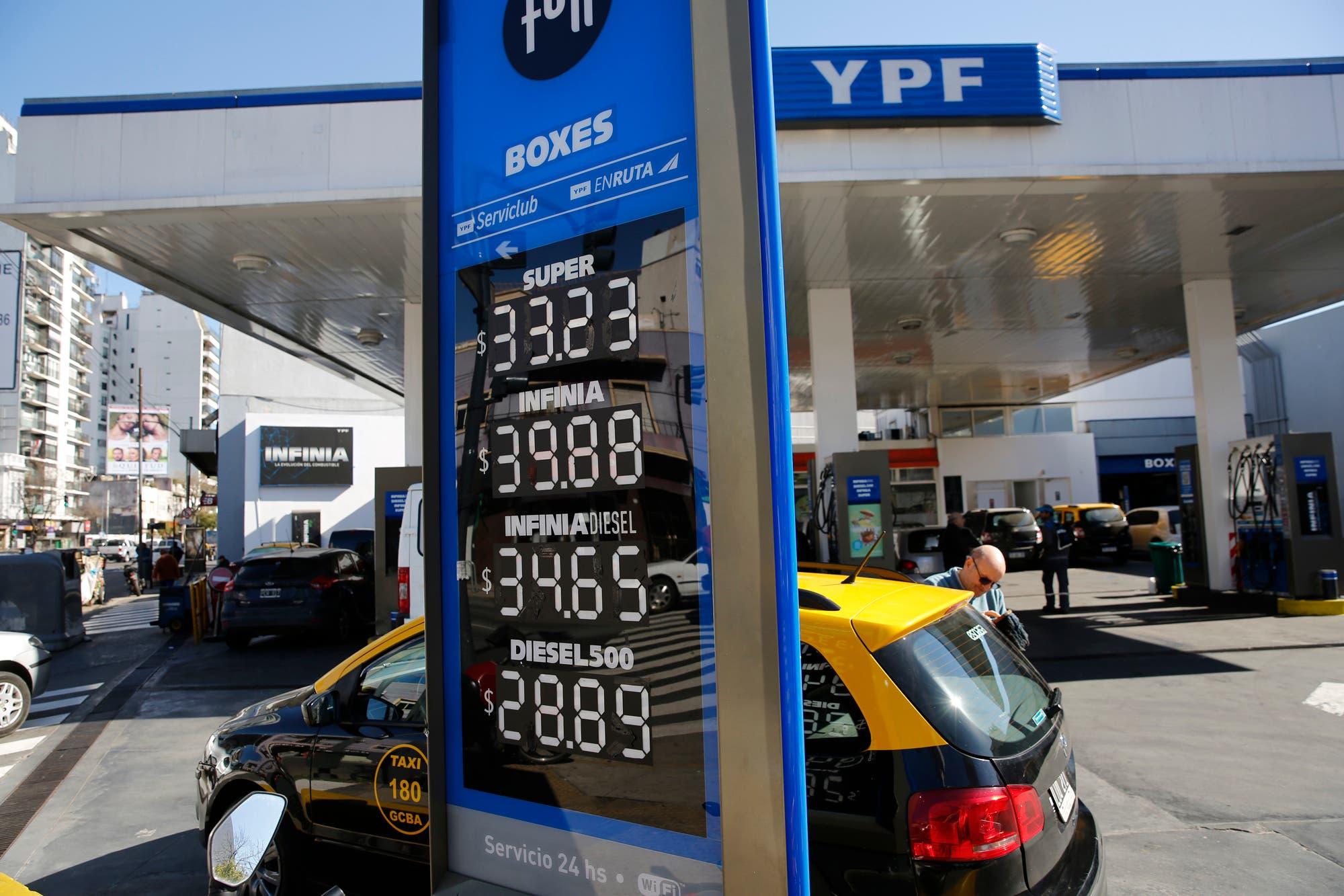 YPF aumenta 2,8% el precio de la nafta en todo el país a partir de la medianoche