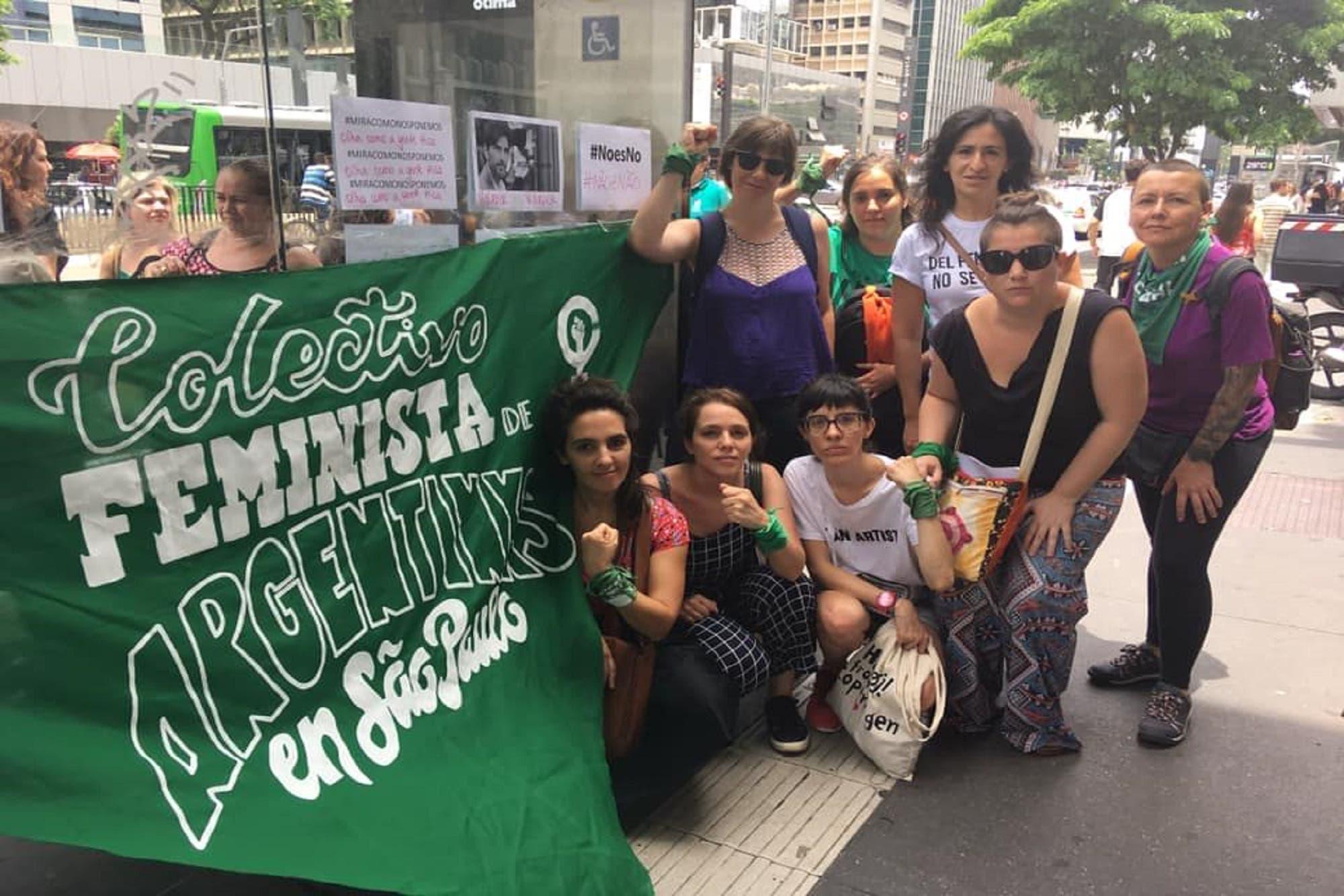 Primeros actos de repudio a Juan Darthés en las calles de San Pablo