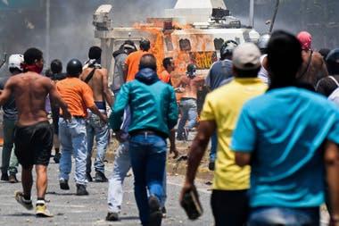 Protestas contra Maduro en las calles de Venezuela
