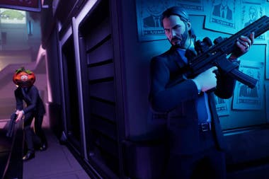 Una captura del trailer del John Wick en Fortnite