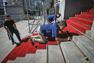 La alfombra roja por la que Alberto Fernández dará sus primeros pasos como Presidente de la Nación